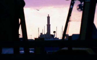 © LaPresse Archivio storico Genova anni 90 Varie La Lanterna di Genova Nella foto: il simbolo di Genova: la Lanterna