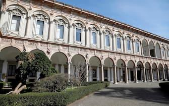 All'Universita' Statale in via Festa del Perdono sospese le lezioni per emergenza Coronavirus a Milano, 24 gennaio 2020.ANSA/Mourad Balti Touati