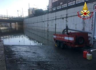 I danni causati  dalla bomba d'acqua che si è abbattuta sulla città, Palermo, 16 Luglio 2020. ANSA/UFFICIO STAMPA