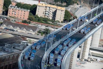 Comincia il collaudo del nuovo Ponte di Genova. FOTO