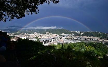 Nuovo ponte di Genova, tutte le immagini dell'inaugurazione. FOTO