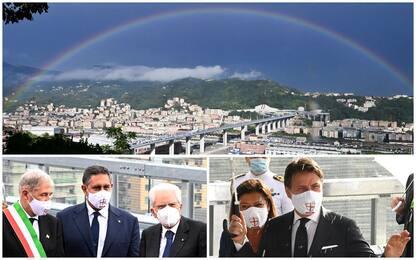Ponte Genova, l'inaugurazione con Mattarella e Conte