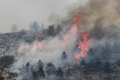 Incendi, roghi verso il centro abitato di L'Aquila. Gente in strada