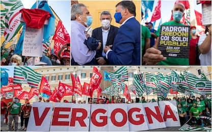 Sanità privata, protesta a Roma contro mancato rinnovo contratto. FOTO
