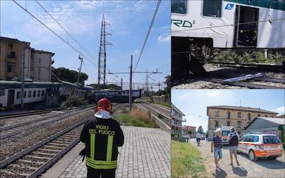 Deragliato treno regionale della linea Milano-Lecco: 3 feriti. FOTO