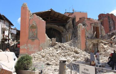 An exterior view of the Church of San Giovanni in Amatrice, near Rieti, central Italy, damaged after the 24 August earthquake. The Civil Protection Department said Friday the latest provisional death toll from Wednesday' earthquake in central Italy is of 267 dead. Of these, 207 died in the Lazio mountain village of Amatrice, 11 in nearby Accumoli and 49 in the village of Arquata del Tronto, in the neighboring Marche region. ANSA/ CARABINIERI - DEPARTMENT FOR PROTECTION OF CULTURAL HERITAGE   +++ ANSA PROVIDES ACCESS TO THIS HANDOUT PHOTO TO BE USED SOLELY TO ILLUSTRATE NEWS REPORTING OR COMMENTARY ON THE FACTS OR EVENTS DEPICTED IN THIS IMAGE; NO ARCHIVING; NO LICENSING +++