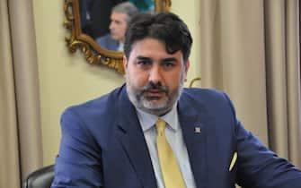 Il presidente della regione Sardegna Christian Solinas in una foto d'archivio. ANSA