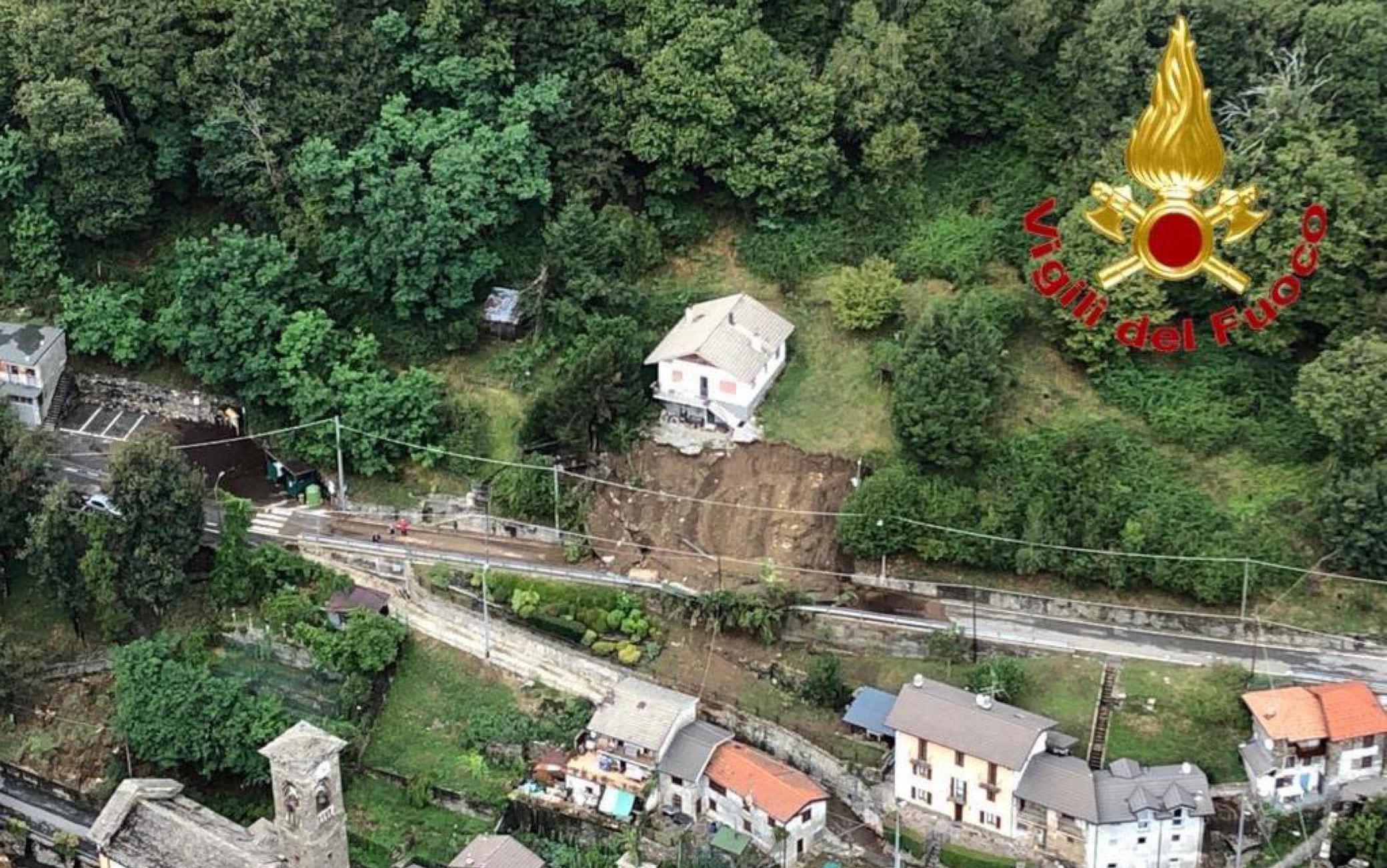 I danni del maltempo a Maccagno (Varese)