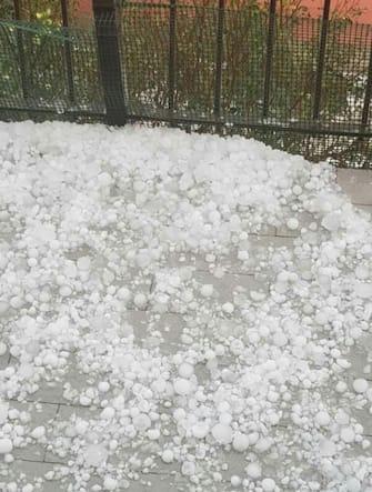 The strong hailstorm that struck the area north of Bergamo, Italy, 30 August 2020. ANSA/ FILIPPO VENEZIA