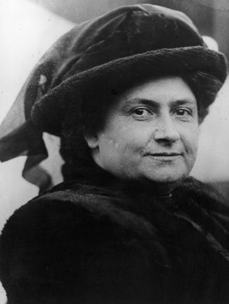 9th March 1914:  Italian physician and educationalist Maria Montessori, (1870 - 1952).  (Photo by Topical Press Agency/Getty Images)