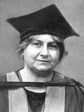 Dr Maria Montessori (1870-1952), Italian philosopher, 1926. In addition to being a philosopherm Montessori was also a physician, educator, humanitarian and devout Catholic. She is best known for her philosophy and method of education of children from birth to adolescence. Her educational method is in use today in a number of public as well as private schools throughout the world. From An Outline of Christianity, The Story of Our Civilisation, volume 5: Christianity Today and Tomorrow, edited by RG Parsons and AS Peake, published by the Waverley Book Club (London, 1926). (Photo by The Print Collector/Print Collector/Getty Images)
