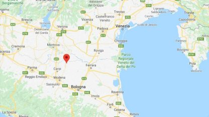 Terremoto nel modenese, scossa di magnitudo 2.4 a Mirandola