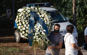 The funeral of Willy Monteiro Duarte, the Italian  Cape Verdian  killed by a bunch of violent people on 5 September in Colleferro, in Paliano, Italy, 12 September 2020. Willy Monteiro Duarte, a 21-year-old Cape Verdian-Italian man who was beaten to death by a gang in a town near Rome on 06 September 2020.  ANSA/MASSIMO PERCOSSI