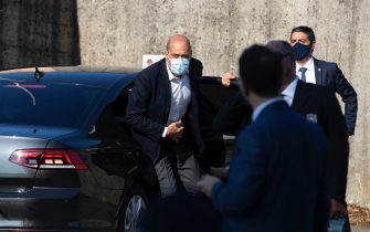 Democratic Party Secretary Nicola Zingaretti and President of Lazio Region  arrives at the funeral of Willy Monteiro Duarte, the Italian Cape Verdian killed by a bunch of violent people in Colleferro, in Paliano, Italy, 12 September 2020. Willy Monteiro Duarte, a 21-year-old Cape Verdian-Italian man was beaten to death by a gang in a town near Rome on early 06 September 2020. ANSA/MASSIMO PERCOSSI