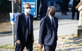 Former Italian soccer player Bruno Conti arrives at the funeral of Willy Monteiro Duarte, the Italian Cape Verdian killed by a bunch of violent people in Colleferro, in Paliano, Italy, 12 September 2020. Willy Monteiro Duarte, a 21-year-old Cape Verdian-Italian man was beaten to death by a gang in a town near Rome on early 06 September 2020. ANSA/MASSIMO PERCOSSI