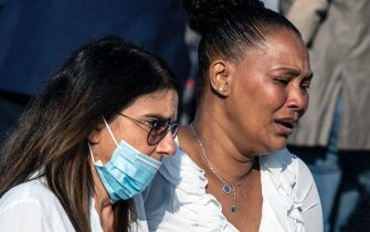 People attend the funeral of Willy Monteiro Duarte, the Italian Cape Verdian killed by a bunch of violent people in Colleferro, in Paliano, Italy, 12 September 2020. Willy Monteiro Duarte, a 21-year-old Cape Verdian-Italian man was beaten to death by a gang in a town near Rome on early 06 September 2020. ANSA/MASSIMO PERCOSSI