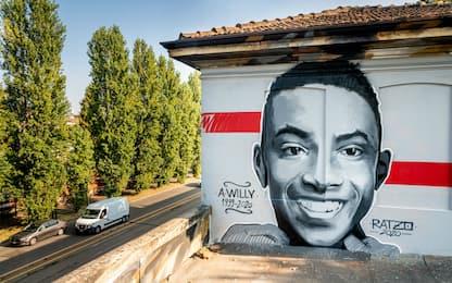 Willy Monteiro, realizzato un murales a Milano. FOTO