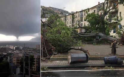 Maltempo: allerta in 7 regioni, tromba d'aria a Genova e Salerno VIDEO