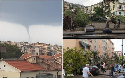 Maltempo, tromba d'aria a Salerno: danni in città. LE FOTO