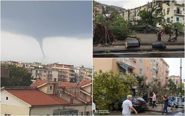 Salerno, tromba d'aria
