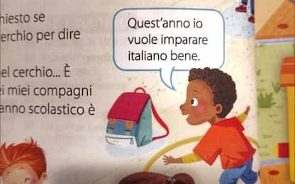 """""""Io vuole imparare italiano bene"""", bufera su frase in libro elementari"""