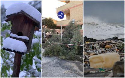 Ancora maltempo in Italia: pioggia, temporali e neve