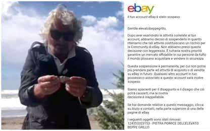 """Beppe Grillo """"espulso"""" da Ebay per annuncio vendita pietra pomice"""