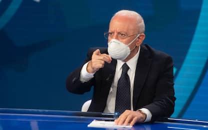 """Covid, De Luca: """"Fornitura dimezzata di vaccini, è inaccettabile"""""""