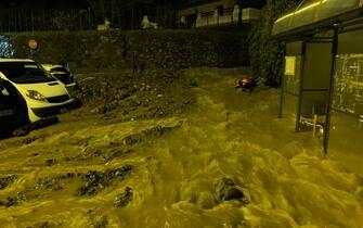 Alluvioni e  frane in Liguria