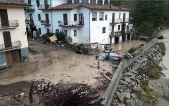 The flooding of the river Tanaro, which in Ormea, near Cuneo, beat the flood values of 1994 and 2016 before falling below the levels of danger, Italy, 03 October 2020.    ANSA / Raffaele Sasso