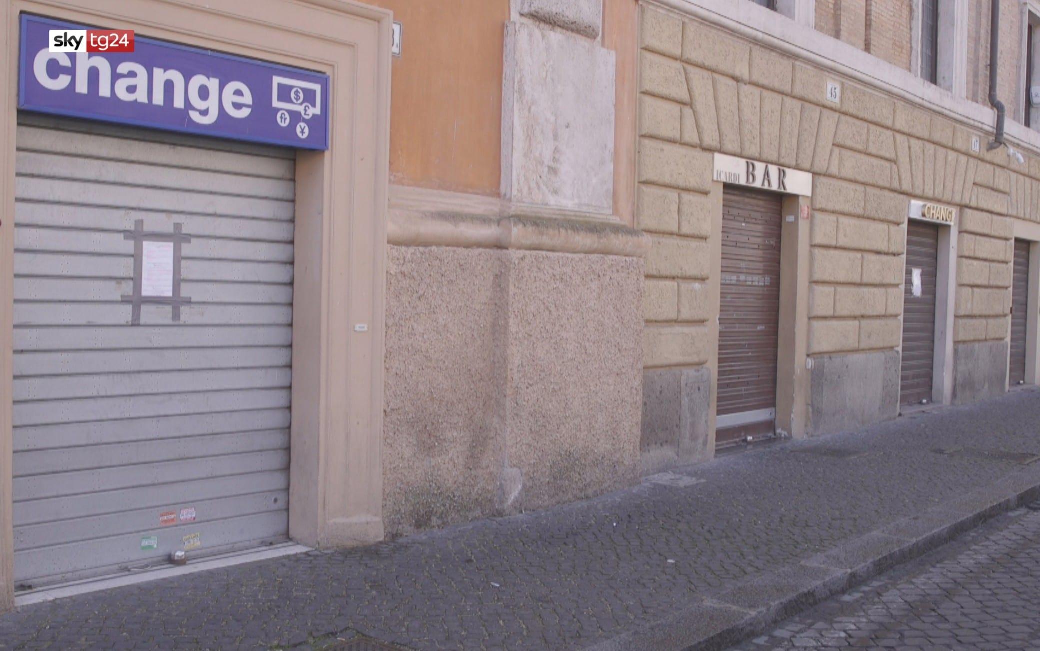Saracinesche chiuse a Roma