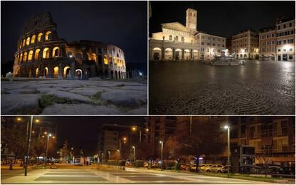 Coronavirus, Roma deserta nella prima notte di chiusura. LE FOTO