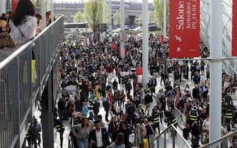 L'apertura della fiera di Rho a Milano per la giornata inaugurale del Salone del Mobile, Milano, 17 Aprile 2018.  ANSA / MATTEO BAZZI