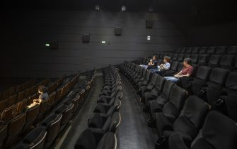 The reopening of the UCI Cinema at the Porta di Roma, Rome, Italy, 15 june 2020.  Cinemas in Italy are resuming activities following a lockdown implemented to stem the spread of the SARS-CoV-2 coronavirus that causes the COVID-19 disease. ANSA/CLAUDIO PERI