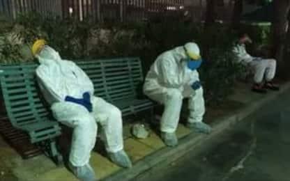 Coronavirus Cagliari, infermieri e medici stremati. LA FOTO