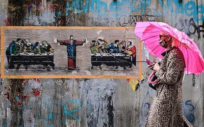 Covid, a Milano i nuovi murales di TvBoy a tema coronavirus. FOTO