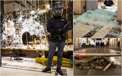 Manifestazione a Torino contro il Dpcm, danni in centro. FOTO