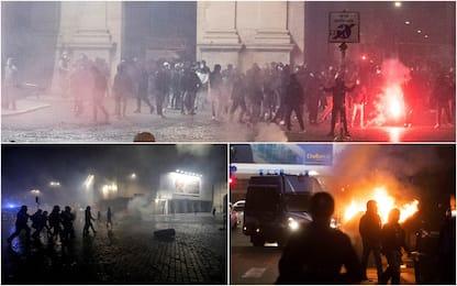 Coronavirus, scontri a Roma in piazza del Popolo. LE FOTO