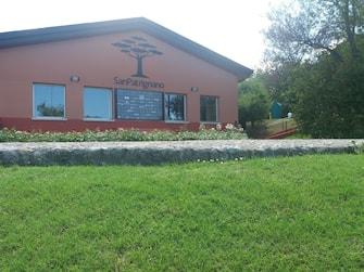 San Patrignano, l'ingresso della comunità di recupero di Coriano (Rimini). ANSA