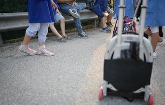 Torino. Inizio della scuola primaria in emergenza Covid Nella Foto: (Torino - 2020-09-14, Riccardo Giordano / IPA) p.s. la foto e' utilizzabile nel rispetto del contesto in cui e' stata scattata, e senza intento diffamatorio del decoro delle persone rappresentate