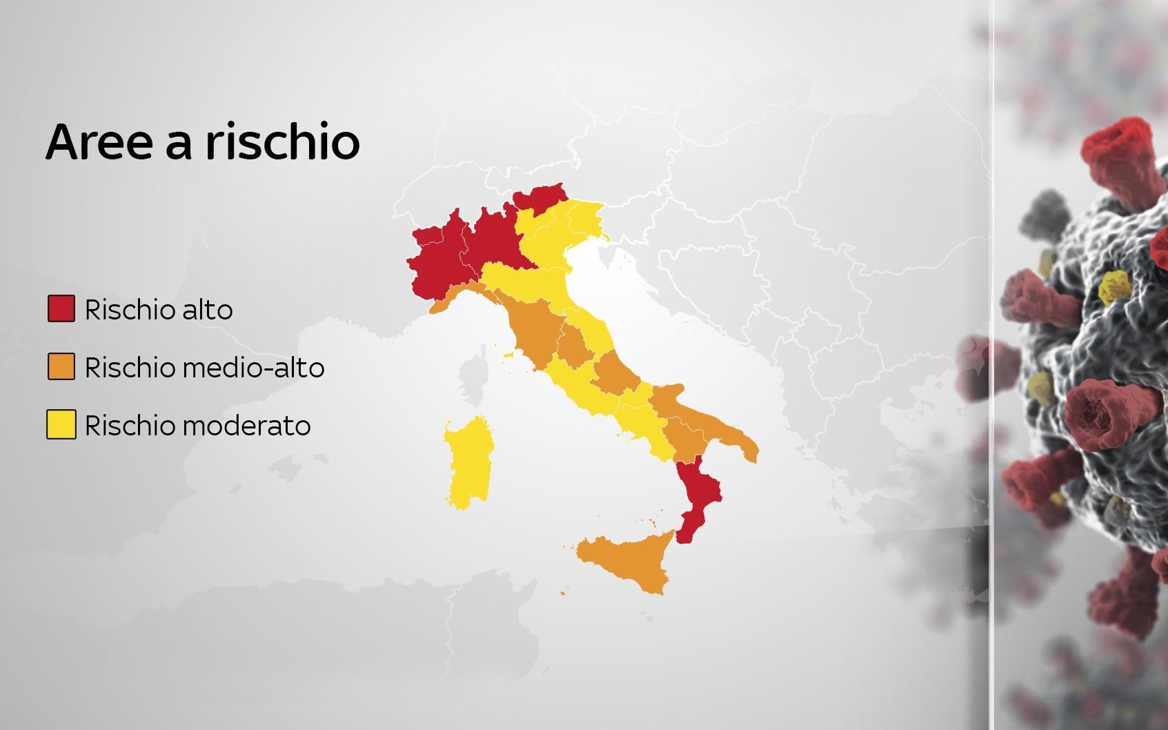 Cartina Italia E Province.Covid La Mappa Delle Regioni In Zona Rossa Arancione E Gialla Secondo Il Nuovo Dpcm
