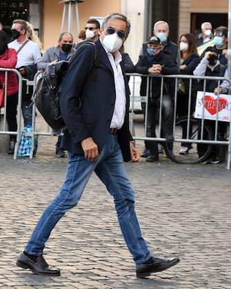 Roma, Funerali Stefano D'Orazio, Chiesa degli Artisti, nella foto Marino Bartoletti (Roma - 2020-11-09, Maurizio D'Avanzo / IPA) p.s. la foto e' utilizzabile nel rispetto del contesto in cui e' stata scattata, e senza intento diffamatorio del decoro delle persone rappresentate