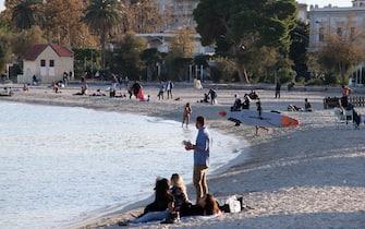 La spiaggia Mondello di Palermo