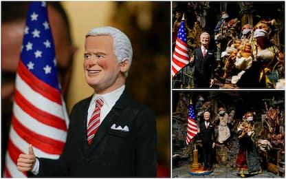 Usa 2020, la statuina di Biden nel presepe napoletano anti-Covid. FOTO