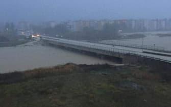 Strade allagate a Crotone dopo un forte nubrifagio che si Ë abbattuto sulla citt‡, 21 novembre 2020. +++ TWITTER ++++ NO SALES, EDITORIAL USE ONLY +++