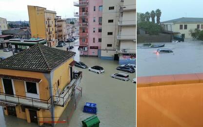 Maltempo, nubifragi in Calabria, neve in Molise. FOTO