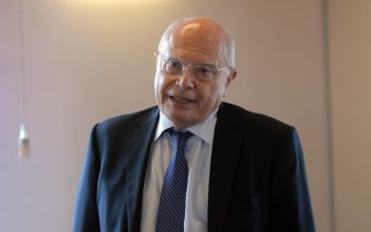 Il prof. Massimo Galli dell ospedale Sacco in occasione della presentazione dell'avvio del test epidemiologico sulla popolazione del Comune di Carpiano, 09 Giugno 2020. Ansa/Andrea Canali.