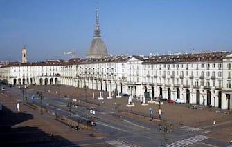 Una vista di Torino con La Mole nello sfondo