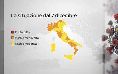 Italia senza zone rosse, ma l'Abruzzo arancione è un caso. LA MAPPA