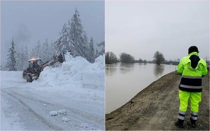 Maltempo: Alto Adige sotto la neve, allerta fiumi in Emilia e Friuli